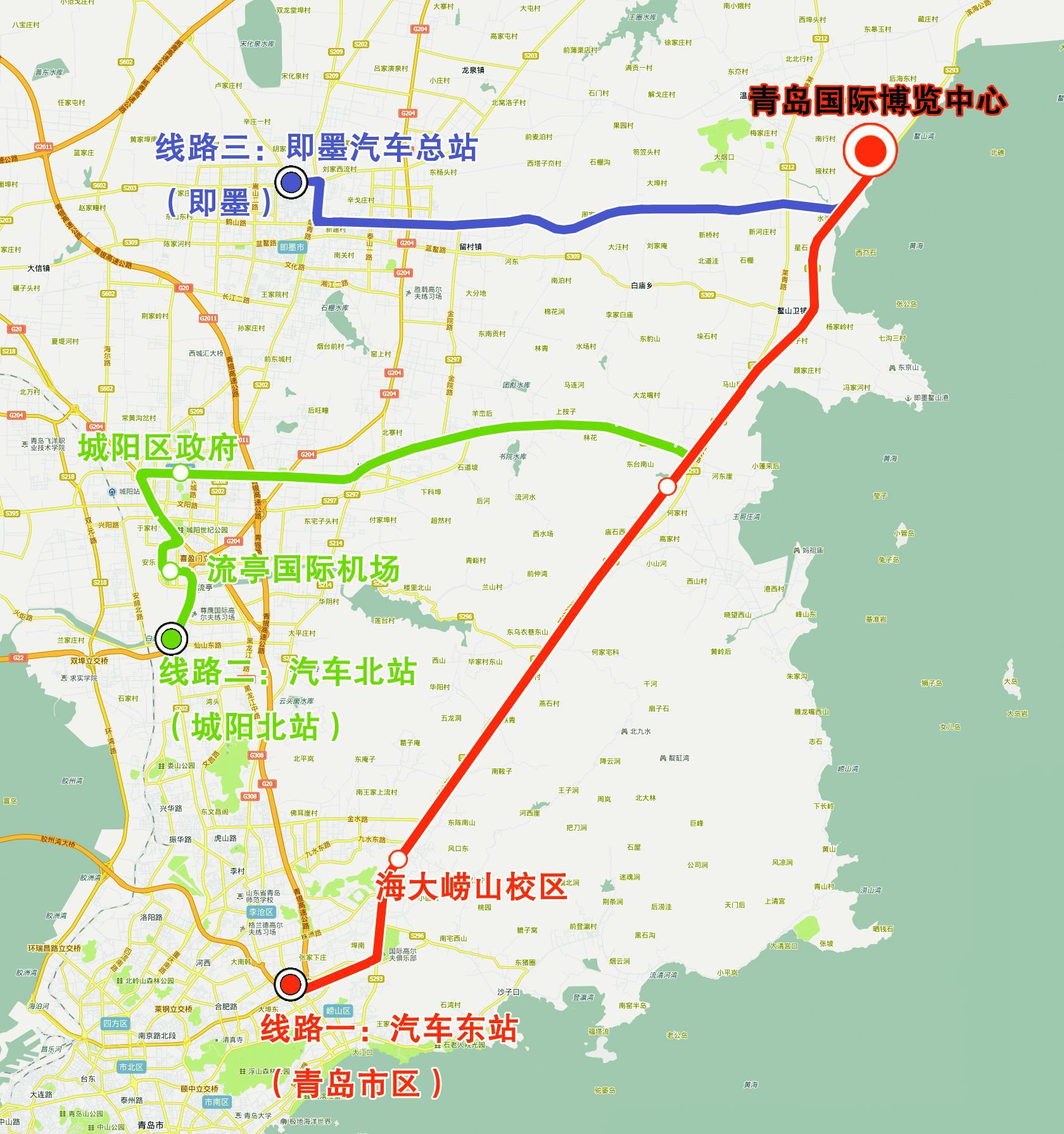 青岛汽车北站位置图